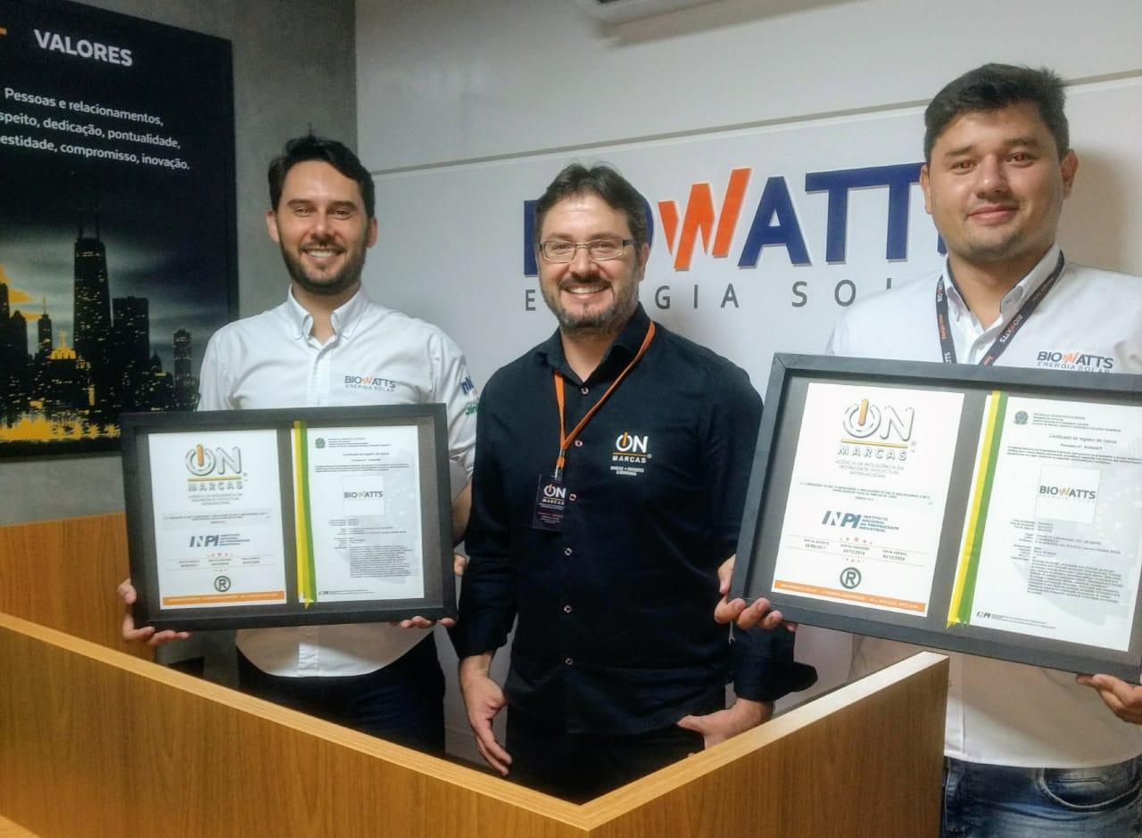 BIOWATTS ENERGIA SOLAR REGISTRO DE MARCA via ON MARCAS